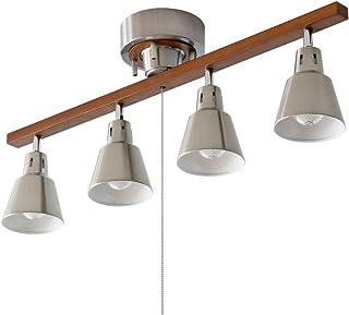 エア・リゾーム シーリングライト LED 電球対応 4灯 間接照明 スポットライト manis〔マニス〕 シルバー×ブラウン(ストレート)