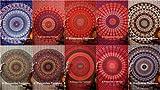 indischen Mandala Wandteppich, Hippie Gypsy Wand aufhängen, Picknick Strand Tabelle, Tischdecke, Ethnic dekorativer Wandschmuck, Baumwolle Tagesdecke Decor Werfen, 218,4x 238,8cm, 5Großhandel,