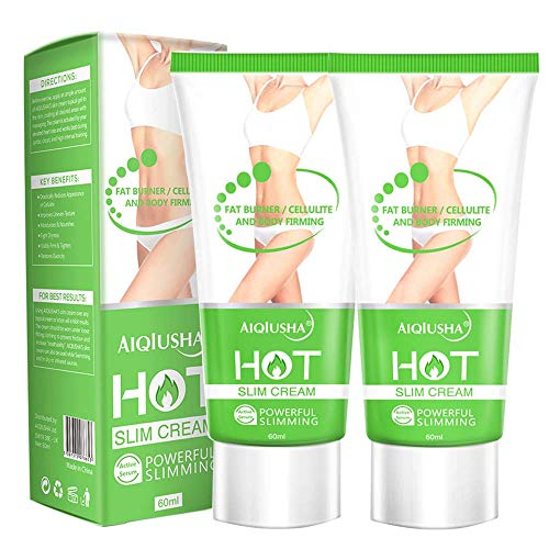Hot Cream, Cellulite Slimming & Firming Cream, Abdominal Fat Burner, Deep Tissue Massage and Muscle Relaxant for Shaping Waist, Abdomen and Buttocks(2 Pack)