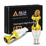 Alla Lighting 3000lm ZES 912 921 LED Reverse Lights Bulbs Xtreme Super Bright 12V SMD T10 T15 906 W16W LED Back-Up Light, 6000K Xenon White