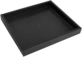 "Half Size Black Stackable Plastic Tray 1"""
