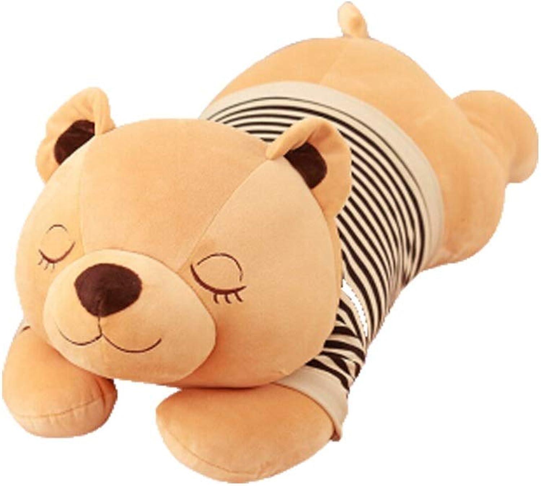 Shengshihuizhong Plush Toy, Bear Doll, Teddy Bear Large Padded Panda Latest Bear Doll Doll Lazy Sleep Bear Large 45 Inches latest models (Size   27 inches)