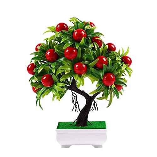 ZYSTMCQZ Nicht-Fading-Bonsai-Mini-Früchte-Pflanze Topf Wohnzimmer Gartentisch Büro-Dekor (Pot enthalten)