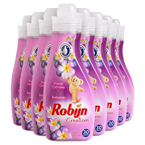 Robijn Creations Paarse Orchidee & Bosbessen Wasverzachter 8 x 30 wasbeurten - 8 x 750 ml Voordeelverpakking