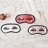 Two's Company Sleeping Beauty Satin Eye Sleep Masks - Set of 3, Assorted Styles