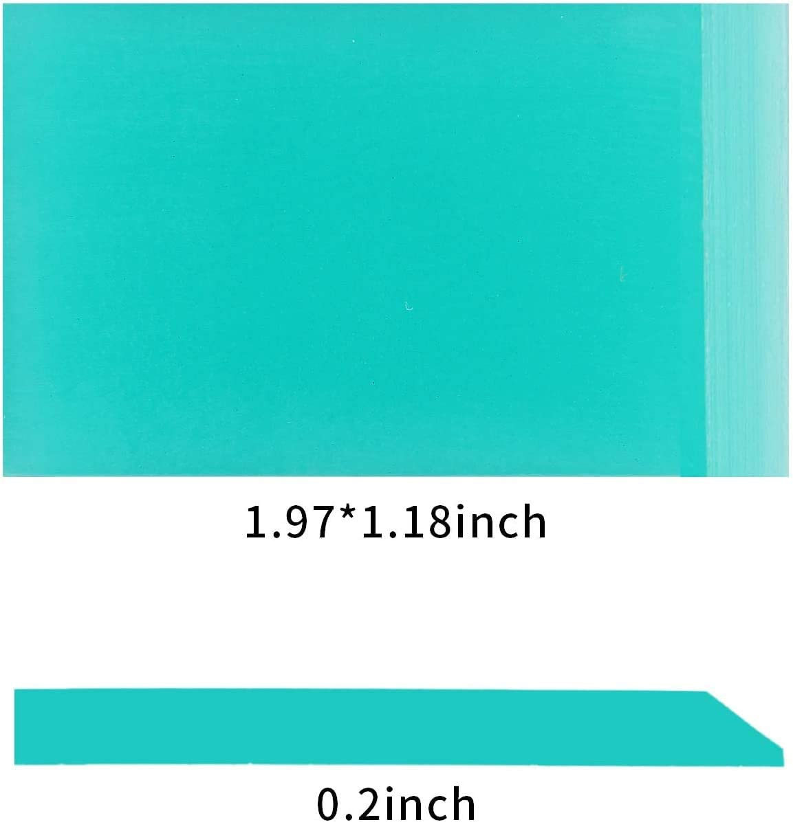 Self-Adhesive Silk Screen Printing Stencils Squeegee Screen Printing Accessories Applied for Chalk Paste or Ink Cotton Cat 1Piece DIY Mini Rubber Squeegee