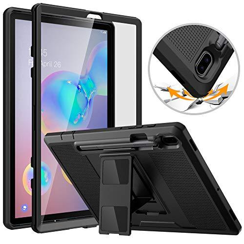 MoKo - Funda para Samsung Galaxy Tab S6 10.5 2019, Resistente a los Golpes, con Protector de Pantalla Integrado y Soporte para lápiz para Galaxy Tab S6 10.5