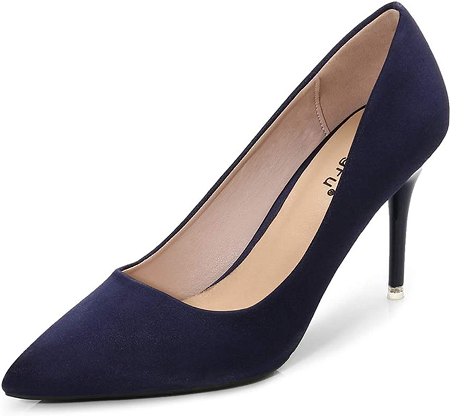 Sam Carle Womens Pumps,Solid color High Thin Heel Pointed Toe Sexy Wedding shoes