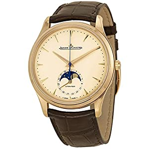Jaeger LeCoultre Master Ultra Thin Moonphase Ivory Dial Leather Mens Watch Q1362520 image