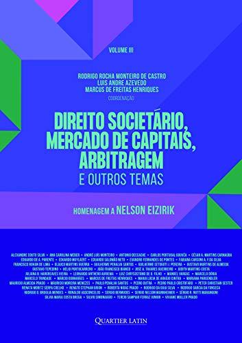 Direito Societário, Mercado de Capitais, Arbitragem e Outros Temas