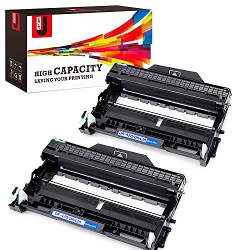 JetSir DR420 Compatible Drum Unit Replacement for Brother DR-420 2-Pack High Yield, Use on Brother HL-2270DW HL-2280DW DCP-7065DN HL-2230 HL-2240 HL-2240D MFC-7460DN FAX2940 FAX2840 MFC-7240 Printer