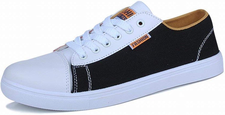 76ff33d0c FuweiEncore City Wave Male Canvas shoes Casual Casual Casual Flat All-match  Flat shoes Men shoes (color Black, Size 42) 0e51b2
