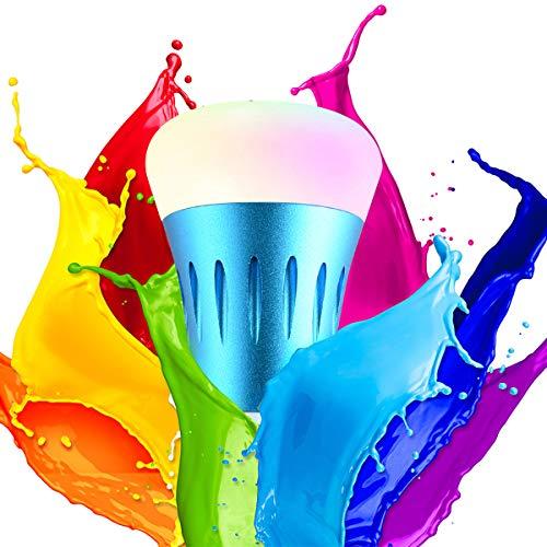 Unitify Lampadine Intelligenti con Amazon Echo Alexa & Google Home Timer Lampade RGB Led E27 E26 Telecomando Cambia Colore, Ddimmerabile, Calendario, Scene Scelte, da Smartphone Android   iOS