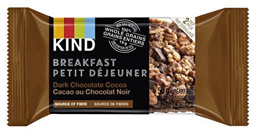 KIND Breakfast Bar, Dark Chocolate Cocoa, Gluten Free, Non GMO, 50 Grams, 4 Count