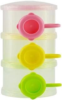 Hrph La alimentaci/ón infantil del beb/é port/átil de leche en polvo y alimentos Botella contenedor 3 celdas de la rejilla de la caja