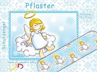 10 Pflaster * SCHUTZENGEL BLAU * mit 19x72mm vom Döll-Verlag // 263104// Kinderpflaster Kinder Geburtstag Kindergeburtstag Mitgebsel Jungen