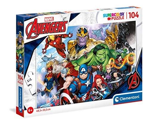 Clementoni 25718, Vengadores Supercolor Puzzle para niños -