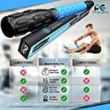 Massage Roller Stick Pro - Best Body Roller for Muscles Deep Tissue, Sore Calf, Cramps, Back Tightness, Knots, Myofascial Release Physical Therapy, Recovery - Muscle Roller Stick for Athletes (Blue)