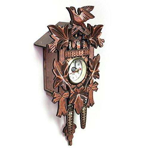 Pendeluhr Retro Holz Wanduhr Kuckucksuhr Europäischen Stil Wohnzimmer Dekorative Uhr