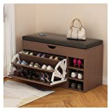 Zapateros Almacenamiento de banco de zapatos con gabinete de zapatos de pasillo de asiento con la unidad de almacenamiento del estante del calzado del organizador Muebles de la unidad for la sala de e