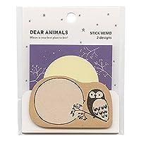 付箋セット DEAR ANIMALS SM-311【フクロウ】 SM-311