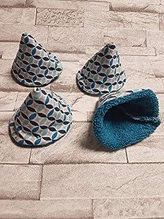 Lot de 4 tipi à pipi collection Les rosaces bleuté/bleu/cone à pipi/écologique et réutilisables naissance cadeaux bébé T32