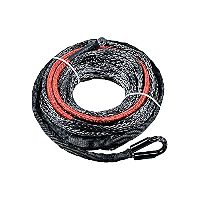 Synthetic Winch Rope w/ Heat Guard For Car SUV ATV UTV Jeep Truck