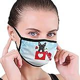 CZLXD - Máscara Antipolvo para el Día de San Valentín, diseño de Perro Bulldog francés Enamorado