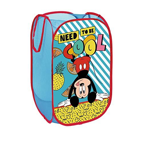 Arditex WD9332 Cesta pongotodo guarda juguetes, diseño Mickey Mouse