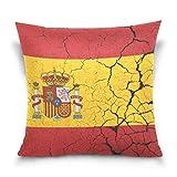 SSHELEY Bandera de España con Emblema Fundas de Almohada de Terciopelo Suave Funda de Almohada Protectores Cojín para el hogar Coche Viaje Avión