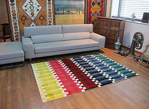 Alfombrista Moderna 16 Alfombra, Acrílico, Multicolor, 70 x 140 cm