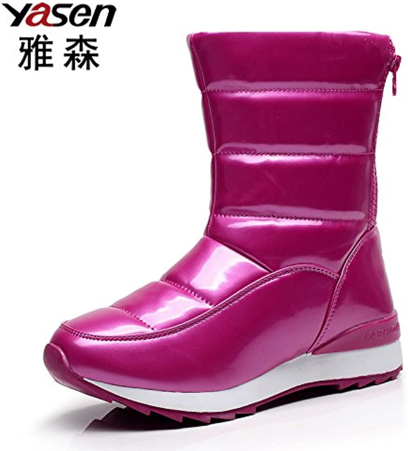 YJNB Tube Thickened In The Winter Snow Boots Women Boots shoes And WoolWaterproof Flat Slip Resistant shoes