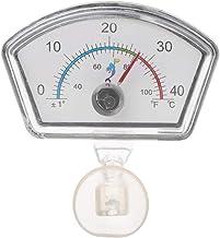 Xuniu Acuario Termómetro Indicador Tanque de Peces Temperatura Dial Sumergible Ventosa 6.5x4.2cm