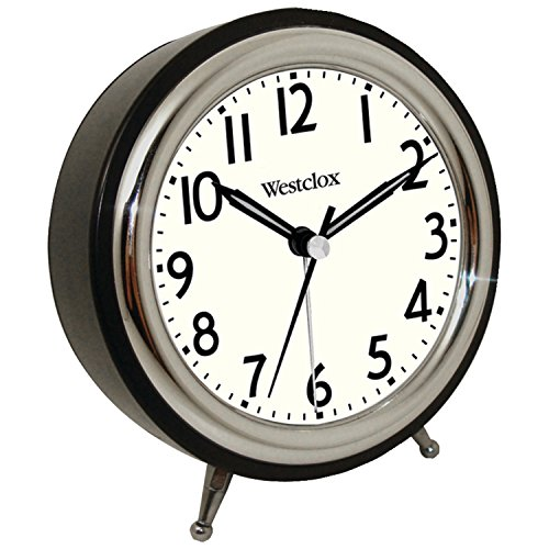 Westclox Classic Quartz Alarm Clock, Black