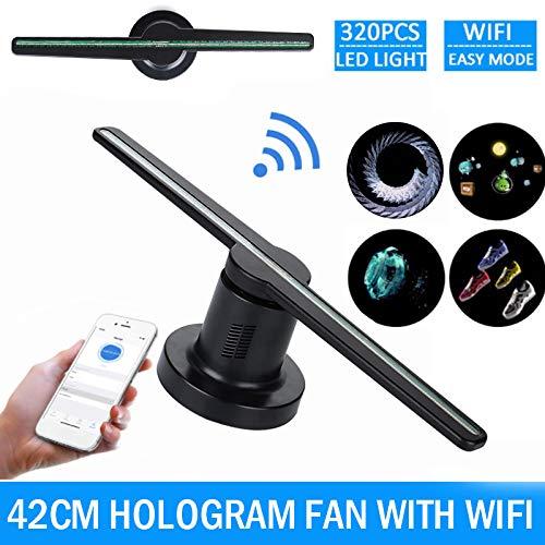 Gulin Ventilador para proyector de Holograma 3D, Wi Fi