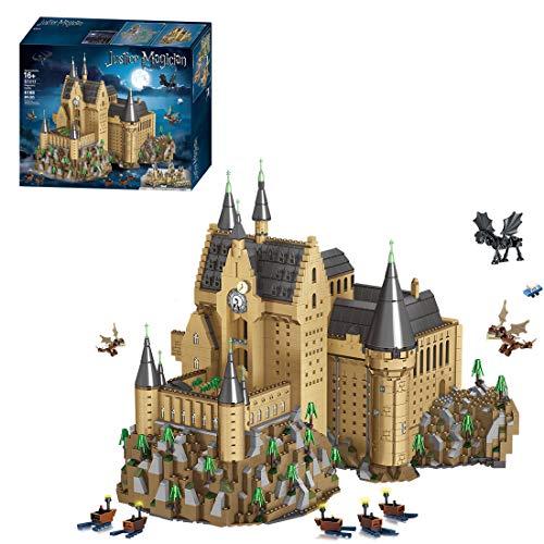 FADY Schloss Hogwarts Bauset, Modular Haus Kompatibel mit Lego Harry Potter Schloss Hogwarts 71043-6188 Teile