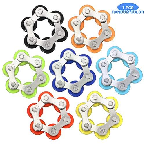 BSMEAN Rollenkette Zappeln Spielzeug Stressabbau Stahl Fahrradkette Zappeln Finger Spielzeug für ADS ADHS Angst Autismus Erwachsene Kinder