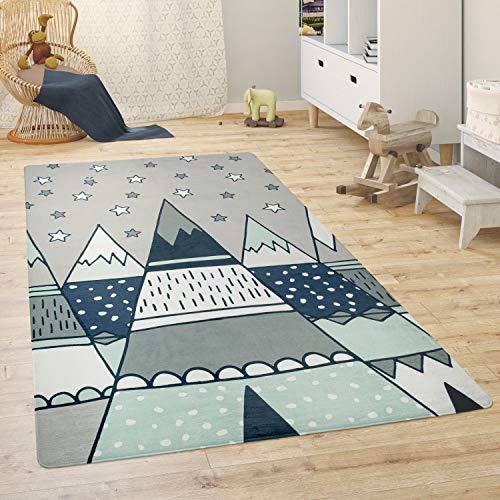 Paco Home Alfombra para Habitación Infantil Juegos Bebé Animales Arco Iris Corazón, tamaño:80x150 cm, Color:Gris