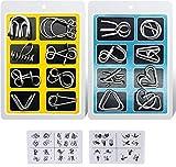 AiYoYo 16 Stück Knobelspiele für Erwachsene und Kinder Geduldspiele IQ-Spiele Set 3D Brainteaser...