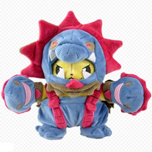 XINRUIBO DREI Drachen Pikachu Cosplay Big Detective Plüsch-Puppe-Karikatur Monster Füllung wert sammeln for Kinder Geburtstags-Geschenke 18Cm Pikachu Kuscheltier