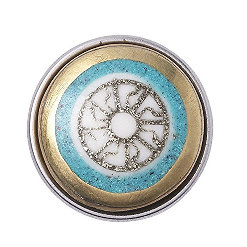 Noosa Chunk MAUI -gold/turkoois/white-bone/metal/turkoois powder