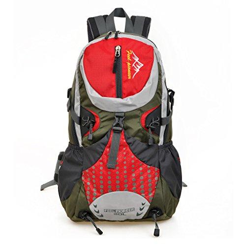Skysper- Zaino da Viaggio Campeggio Per Escursioni 20-35L Rosso