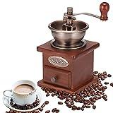 Molinillo de café Manual, Laiashley Vendimia Amoladora de Café, Molinillo de Madera para Grano de Café con Cajón Para Hogar La Oficina Y Los Viajes