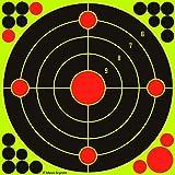 Rinling Shooting Targets 10 Pack/20 Pack/40 Pack,12 inch Reactive Splatter Bullseye Targets for BB Gun,Rifle,Air Rifle,Airsoft,Pistol,Pellet Gun (10 Pack)