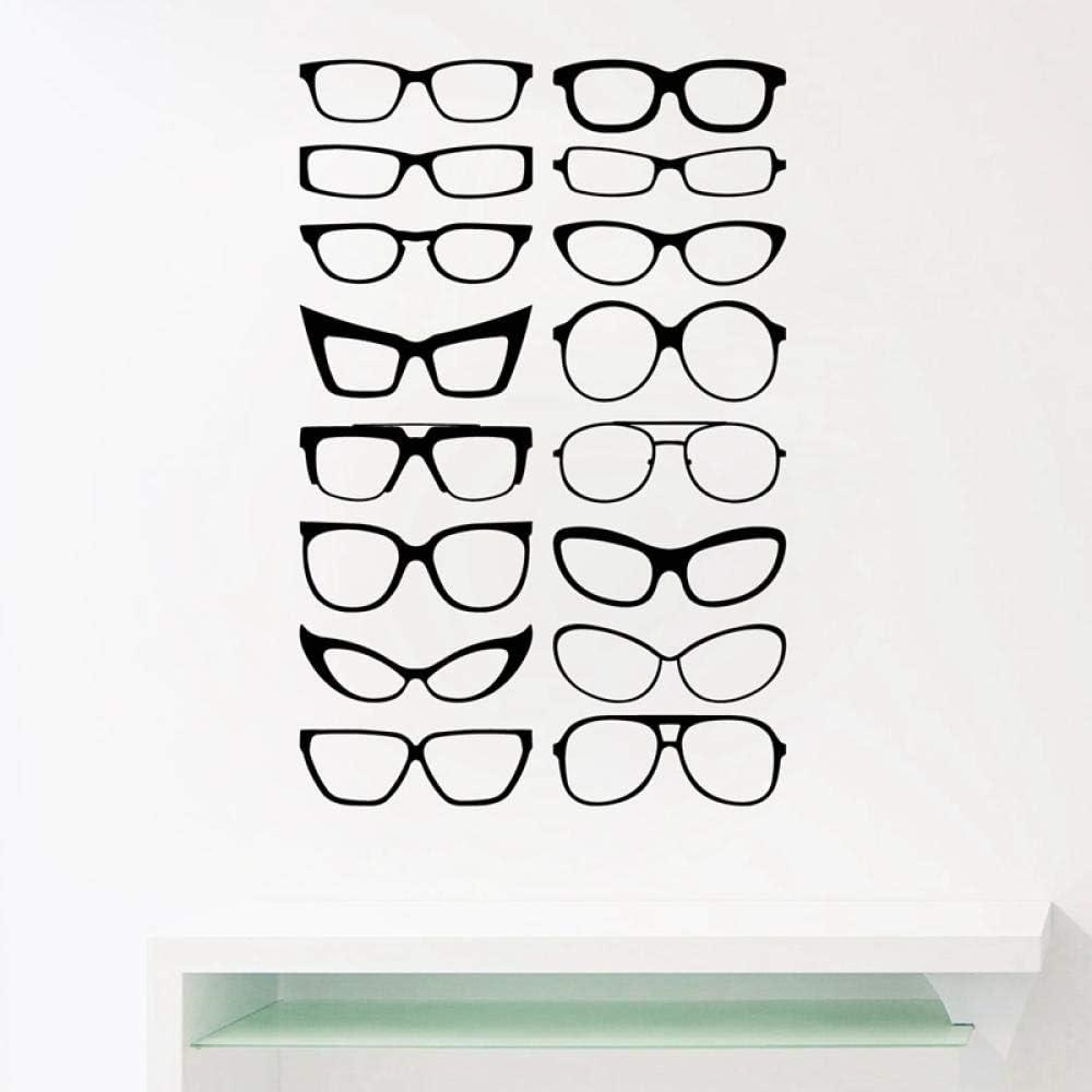 Calcomanías de vinilo para pared con marco de gafas para gafas, molduras para puertas, ventana de oficina, tienda, optometría, optometría 95x63cm