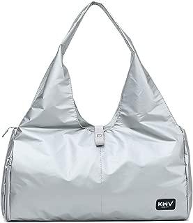 Sports Gym Bag For Yoga Luggage Gym Sports,Women Duffel Bag (Color : Silver)
