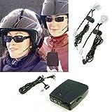 DOBO kit interfono per guidatore passeggero da casco auricolari telefono audio musica MP3 per casco moto scooter