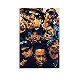 CANCUI Tupac Biggie Snoop Dogg Poster deko Leinwand Kunst