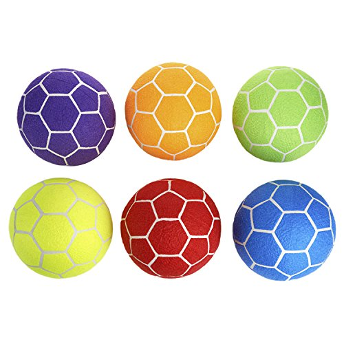 MAC-T Indoor Felt Soccer Ball Set - Size 5 - Set of 6 Balls - Assorted Colors