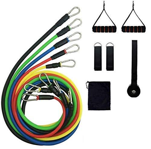 Cadina Kit Tubing 11 peças Elástico Extensor Bravus Exercicio Funcional